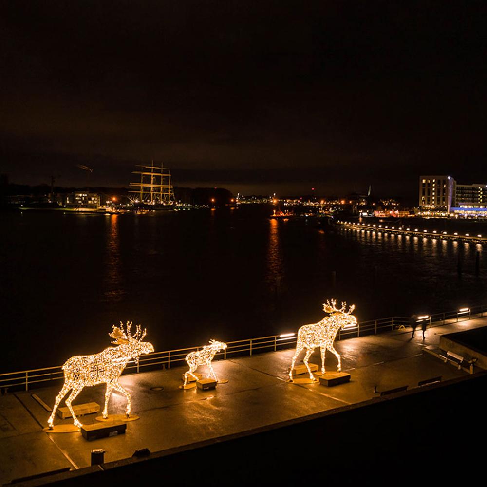 Leuchtende Elche Weihnachten